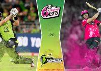 Sydney Thunder vs Sydney Sixers BBL T20 Match Prediction