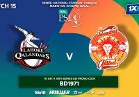 Islamabad United Vs Lahore Qalandars