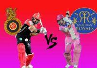 Royal Challengers Bangalore vs Rajasthan Royals IPL T20 Match Prediction