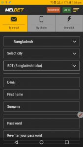How to create Melbet Account