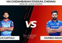 Mumbai Indians vs Delhi Capitals IPL T20 Match Prediction